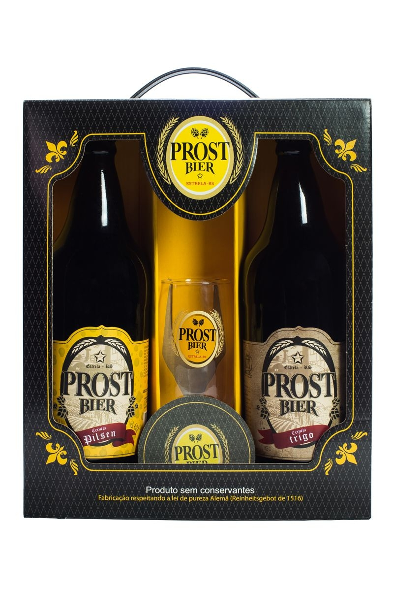 Kit Prost Bier 2 cervejas 600 ml + 1 Taça